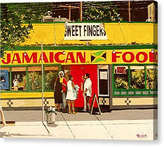 Jamaican Food Canvas Print by Paul Guyer
