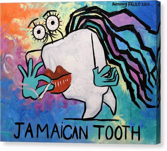 Jamaican Canvas Print - Jamaican Tooth by Anthony Falbo