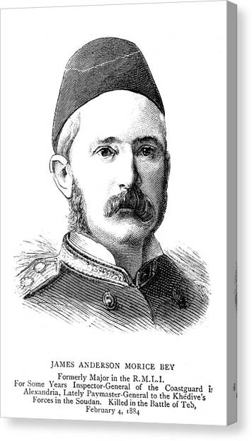 Royal Marines Canvas Print - James Anderson Morice Bey (1834-1884) by Granger