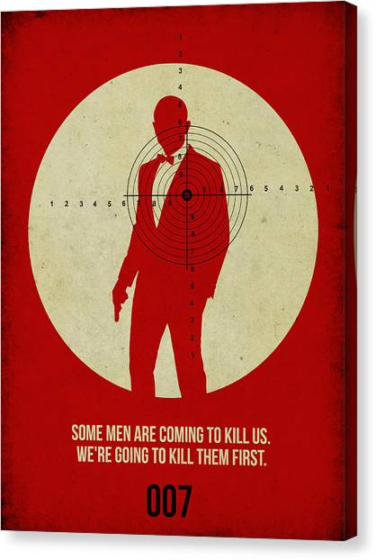 Tv Shows Canvas Print - James Bond Skyfall Poster by Naxart Studio