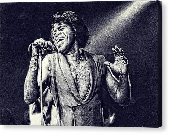 James Brown On Stage Canvas Print