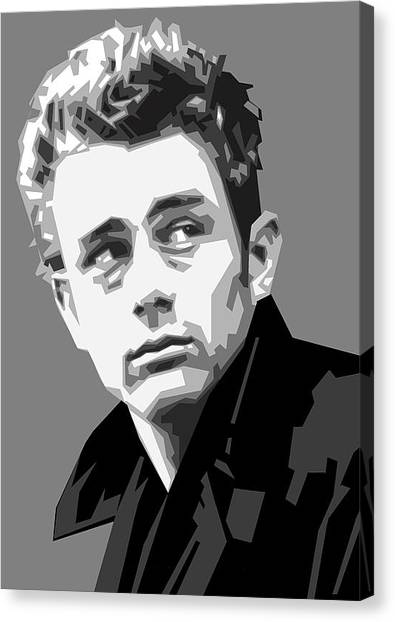 James Dean Canvas Print - James Dean In Black And White by Douglas Simonson