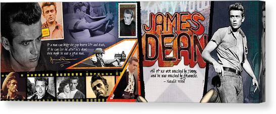 James Dean Canvas Print - James Dean Panoramic by Retro Images Archive