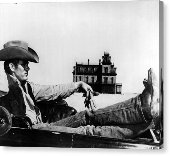 James Dean Canvas Print - James Dean by Retro Images Archive