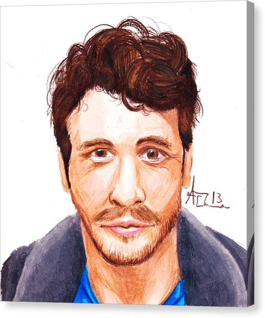 James Franco Canvas Print - James Franco by Adrian  Casanova