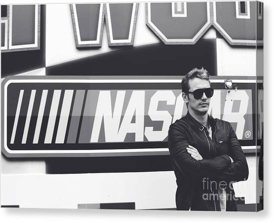 Daytona 500 Canvas Print - James Franco Daytona 500 by Shanna Vincent