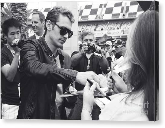 Daytona 500 Canvas Print - James Franco Daytona Fans by Shanna Vincent