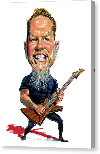 Metallica Canvas Print - James Hetfield by Art