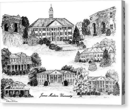 Caa Canvas Print - James Madison University by Jessica Bryant