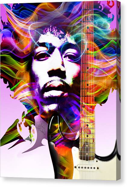 James Marshall Hendrix Canvas Print