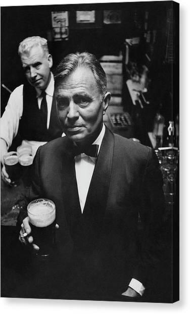 James Mason At A Pub In Dublin Canvas Print