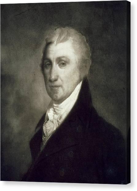 Presidential Portrait Canvas Print - James Monroe by American School
