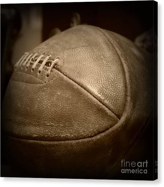 University Of Kansas Canvas Print - James Naismith Original Basketball by Amy Steeples