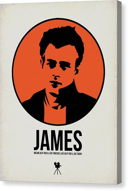 James Dean Canvas Print - James Poster 1 by Naxart Studio
