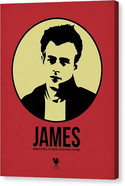 James Dean Canvas Print - James Poster 2 by Naxart Studio