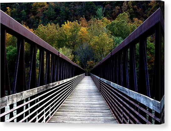 James River Footbridge Canvas Print