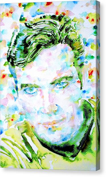 James T. Kirk Canvas Print - James T. Kirk - Watercolor Portrait by Fabrizio Cassetta