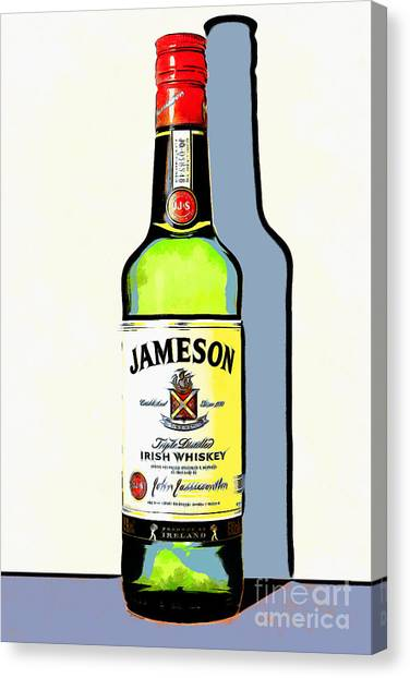 St. Patricks Day Canvas Print - Jameson Irish Whiskey 20140916poster by Wingsdomain Art and Photography