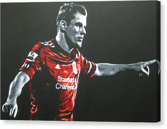 Liverpool Fc Canvas Print - Jamie Carragher - Liverpool Fc by Geo Thomson