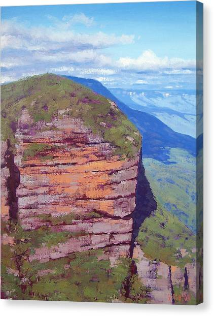 Neck Canvas Print - Jamison Cliff Face  Leura by Graham Gercken