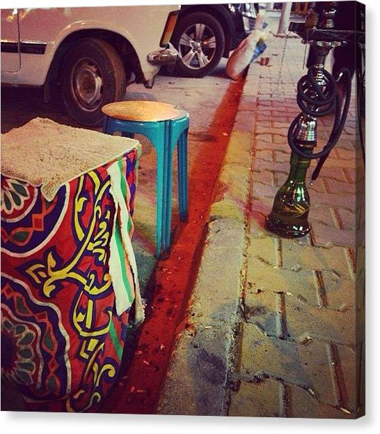 Street Scenes Canvas Print - Jammin... Hurghada, Egypt by Go Takey