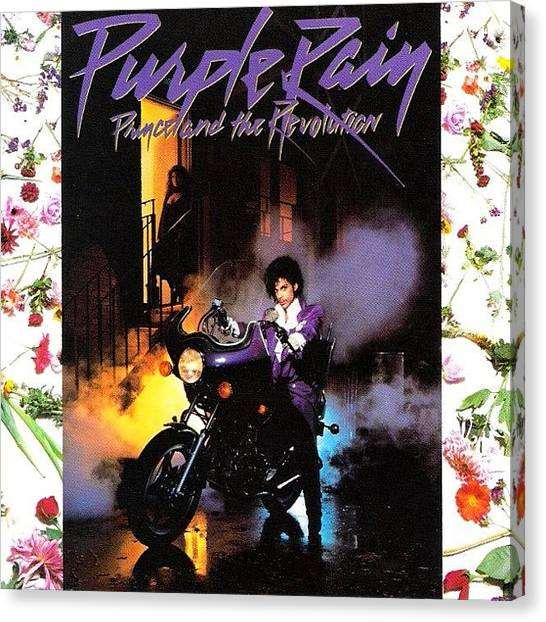 Prince Canvas Print - Jammin Out To Purple Rain This Morning by Aaron Moses
