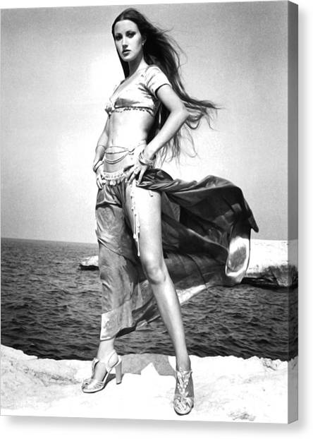 The Tiger Canvas Print - Jane Seymour In Sinbad And The Eye Of The Tiger  by Silver Screen