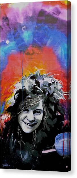 Janis Joplin Canvas Print - Janis by Erica Falke