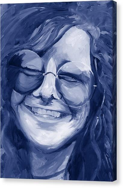 Janis Joplin Blue Canvas Print