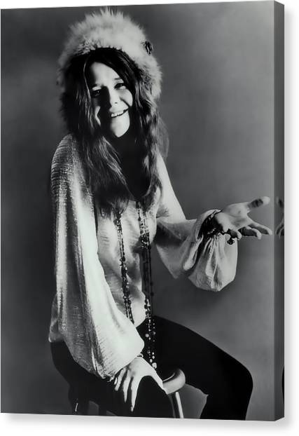 Big Brother Canvas Print - Janis Joplin by Daniel Hagerman
