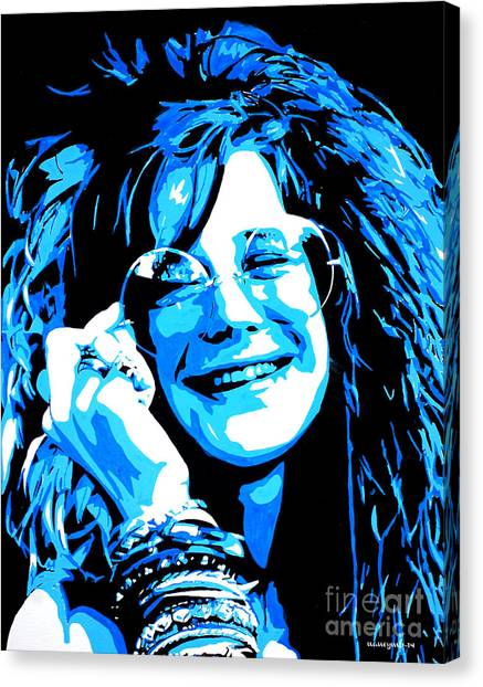 Janis Joplin. Canvas Print