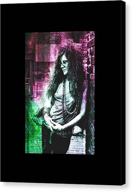 Janis Joplin - Pink Canvas Print