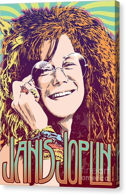 Big Brother Canvas Print - Janis Joplin Pop Art by Jim Zahniser