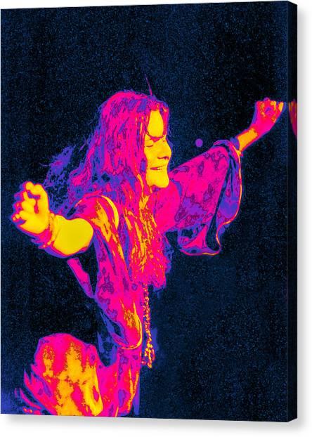 Janis Joplin Canvas Print - Janis Joplin Psychedelic Fresno 2 by Joann Vitali