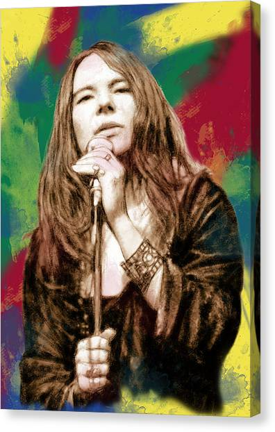 Big Brother Canvas Print - Janis Joplin - Stylised Drawing Art Poster by Kim Wang