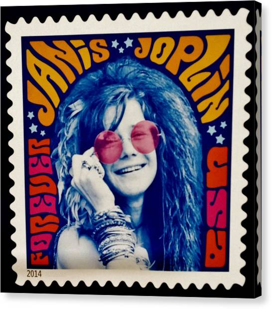 Janis Stamp In A Groovy Vibe Canvas Print