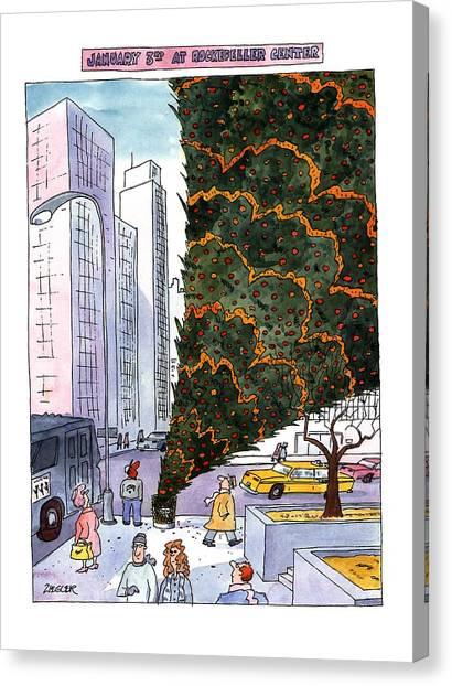 January 3rd At Rockefeller Center Canvas Print