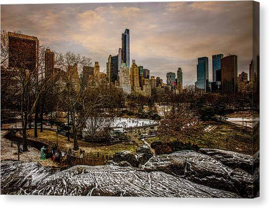 Warner Park Canvas Print - January At Central Park South by Chris Lord