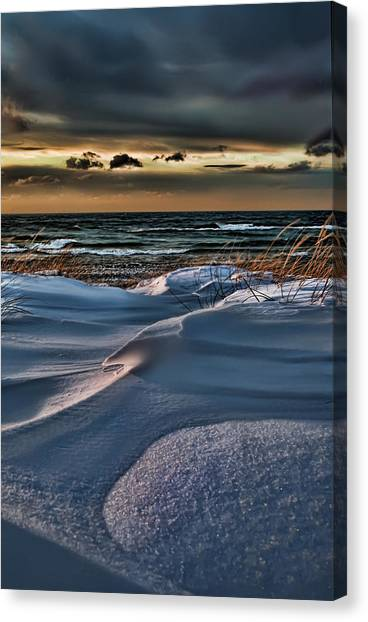January Saugatuck Blues Michigan Canvas Print