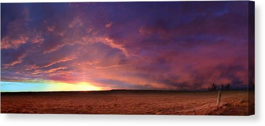 January Sunset With Cold Front Canvas Print
