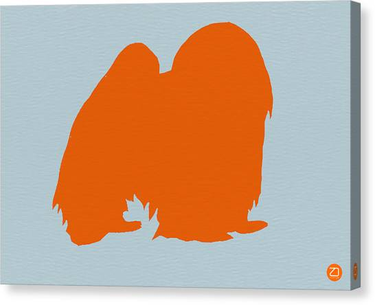 Chin Canvas Print - Japanese Chin Orange by Naxart Studio