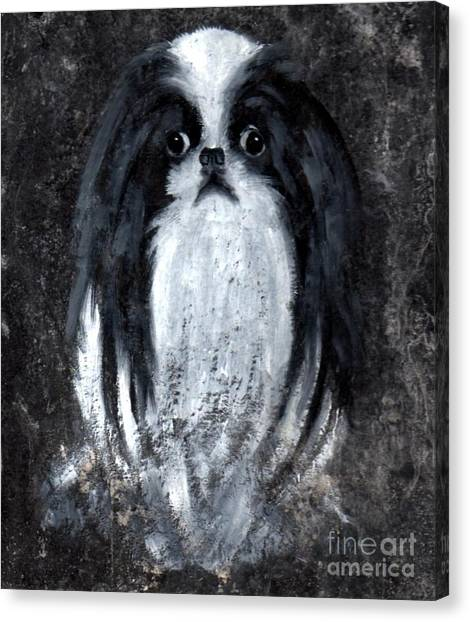Japanese Chin Canvas Print