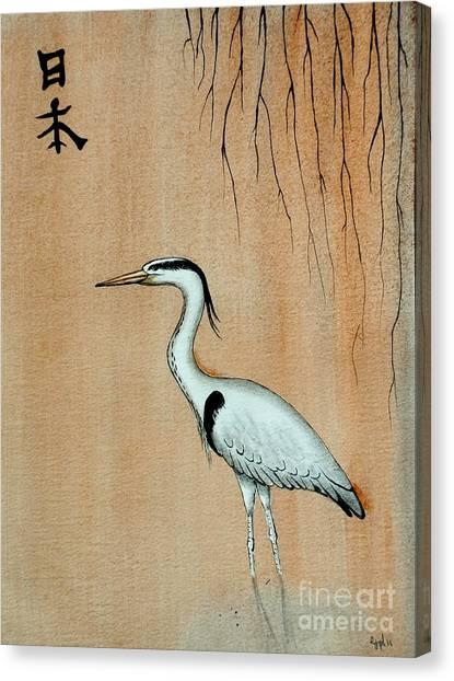 Street Fighter Canvas Print - Japanese Crane by Gordon Lavender