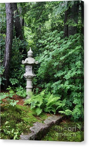 Canvas Print - Japanese Garden Lantern by Christiane Schulze Art And Photography