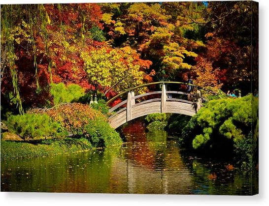 Canvas Print featuring the photograph Japanese Gardens 9540 by Ricardo J Ruiz de Porras