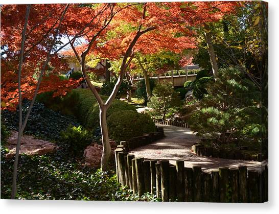 Canvas Print featuring the photograph Japanese Gardens 9554 by Ricardo J Ruiz de Porras