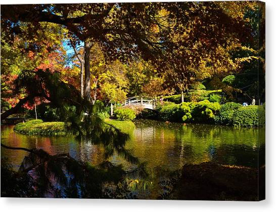 Canvas Print featuring the photograph Japanese Gardens 9561 by Ricardo J Ruiz de Porras