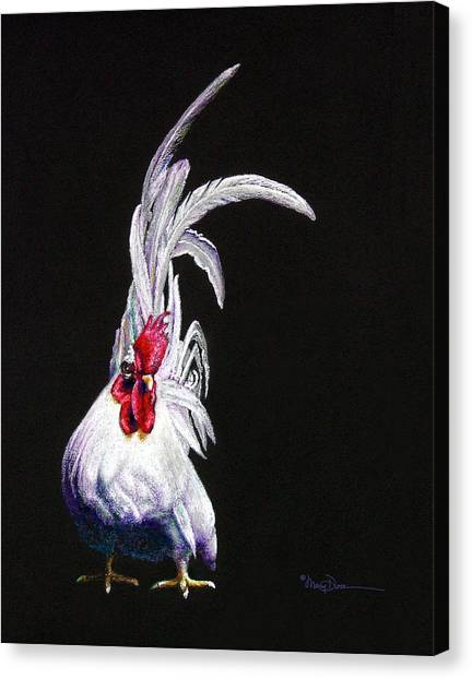 Japanese Rooster Canvas Print