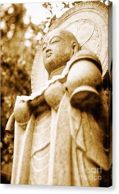 Japanese Statue - Jizo - Guardian Of Children In Japan Canvas Print