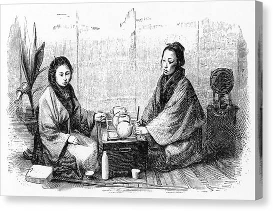 Influence Canvas Print - Japanese Tea Ceremony (sado);  A Custom by Mary Evans Picture Library